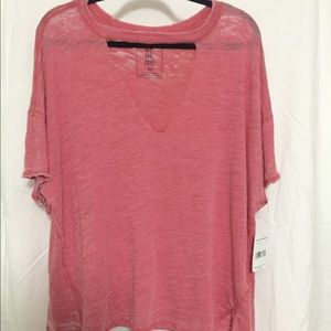 Free People Coral Tshirt